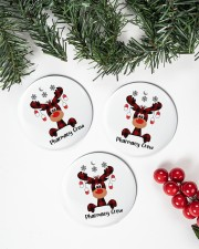 Pharmacy Crew - Christmas Reindeer Circle ornament - 3 pieces (porcelain) aos-cricle-ornament-3-pieces-porcelain-lifestyles-01