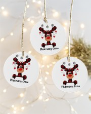 Pharmacy Crew - Christmas Reindeer Circle ornament - 3 pieces (porcelain) aos-cricle-ornament-3-pieces-porcelain-lifestyles-03