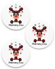 Pharmacy Crew - Christmas Reindeer Circle ornament - 3 pieces (porcelain) front