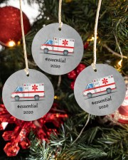 Ornament for EMT - Paramedic Circle ornament - 3 pieces (porcelain) aos-cricle-ornament-3-pieces-porcelain-lifestyles-02
