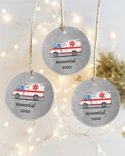 Ornament for EMT - Paramedic Circle ornament - 3 pieces (porcelain) aos-cricle-ornament-3-pieces-porcelain-lifestyles-03