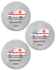 Ornament for EMT - Paramedic Circle ornament - 3 pieces (porcelain) front