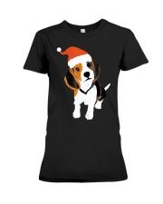 Beagle Santa Hat Shirt Merry Christmas Beagle Love Premium Fit Ladies Tee thumbnail