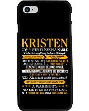 Kristen - Completely Unexplainable Phone Case thumbnail