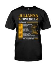 Julianna Fun Facts Classic T-Shirt front
