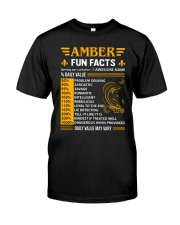 Amber Fun Facts Classic T-Shirt front