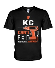 If Kc Cant Fix It - We Are All Screwed V-Neck T-Shirt thumbnail