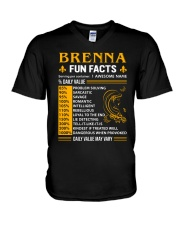 Brenna Fun Facts V-Neck T-Shirt thumbnail
