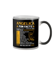 Angelica Fun Facts Color Changing Mug tile