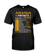 Amanda Fun Facts Classic T-Shirt front