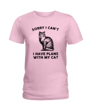 I have plans with cat Ladies T-Shirt thumbnail