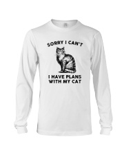 I have plans with cat Long Sleeve Tee thumbnail