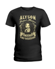 PRINCESS AND WARRIOR - Alyson Ladies T-Shirt front
