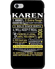 Karen - Sweet Heart And Warrior Phone Case thumbnail