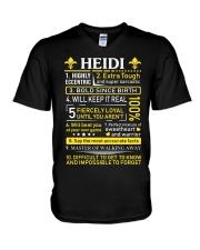Heidi - Sweet Heart And Warrior V-Neck T-Shirt thumbnail
