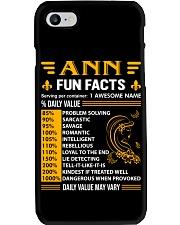 Ann - Fun Facts Phone Case thumbnail