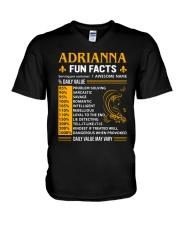 Adrianna Fun Facts V-Neck T-Shirt thumbnail