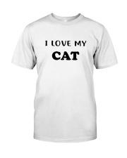 I LOVE MY CAT Classic T-Shirt front