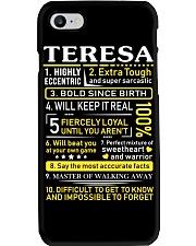 Teresa - Sweet Heart And Warrior Phone Case thumbnail