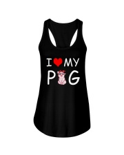 I LOVE MY PIG Ladies Flowy Tank thumbnail