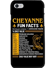 Cheyanne Fun Facts Phone Case tile