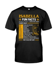 Isabella Fun Facts Classic T-Shirt front