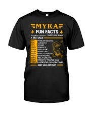 Myra Fun Facts Classic T-Shirt front