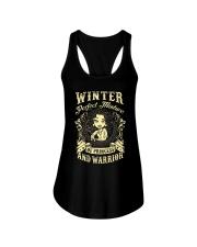 PRINCESS AND WARRIOR - Winter Ladies Flowy Tank thumbnail