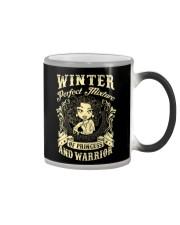 PRINCESS AND WARRIOR - Winter Color Changing Mug thumbnail