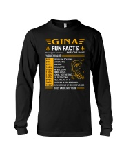 Gina Fun Facts Long Sleeve Tee thumbnail