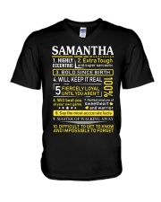 Samantha - Sweet Heart And Warrior V-Neck T-Shirt thumbnail