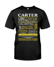 Carter - Sweet Heart And Warrior Classic T-Shirt front