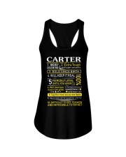 Carter - Sweet Heart And Warrior Ladies Flowy Tank thumbnail