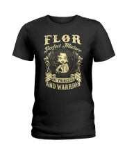 PRINCESS AND WARRIOR - Flor Ladies T-Shirt front
