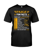 Paige Fun Facts Classic T-Shirt front