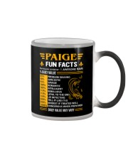Paige Fun Facts Color Changing Mug tile