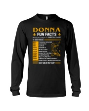Donna Fun Facts Long Sleeve Tee thumbnail
