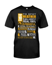Heather - top10 Classic T-Shirt front