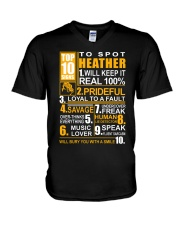 Heather - top10 V-Neck T-Shirt thumbnail