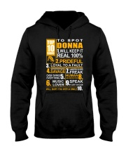 Donna - top10 Hooded Sweatshirt thumbnail