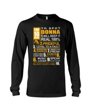 Donna - top10 Long Sleeve Tee thumbnail