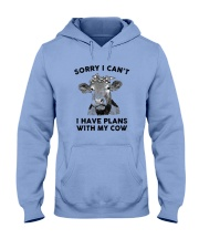 I have plans with cow Hooded Sweatshirt thumbnail