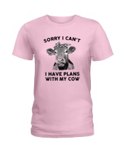 I have plans with cow Ladies T-Shirt thumbnail