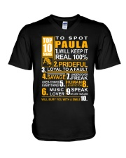 Paula - top10 V-Neck T-Shirt thumbnail