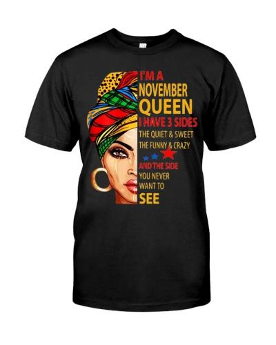 I Am November Queen Shirt