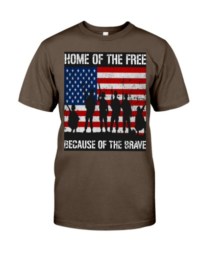 Home Of Brave Veteran Shirt