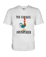 Funny The Chicken Whisperer Shirt V-Neck T-Shirt thumbnail