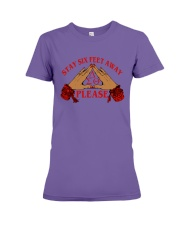 Stay 6 feet away Premium Fit Ladies Tee thumbnail