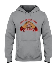 Stay 6 feet away Hooded Sweatshirt thumbnail