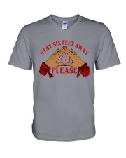 Stay 6 feet away V-Neck T-Shirt thumbnail